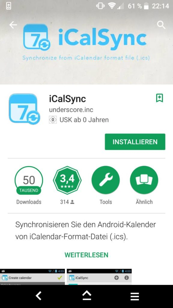 Android iCalSync App