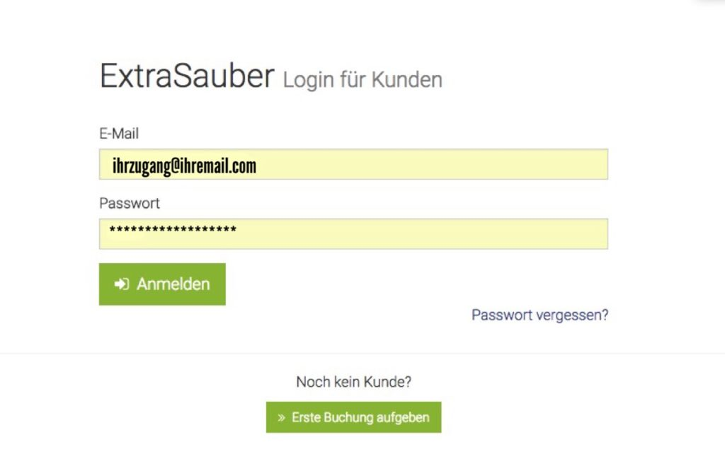 ExtraSauber Log-In